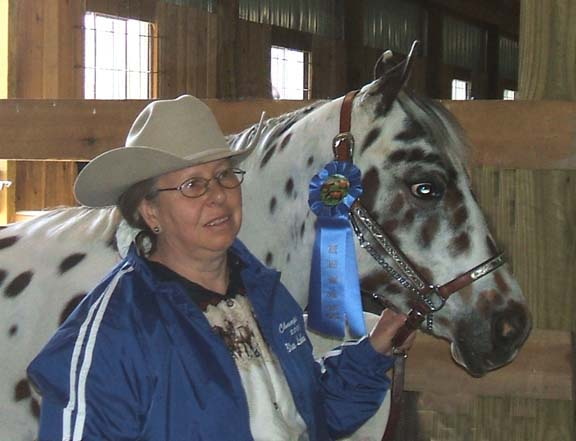 Owner Cheryl Chernicky with Dreams Desert Knight